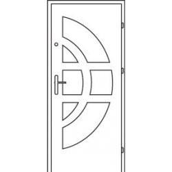 Bezpečnostné vchodové dvere Centurion Bazalt B1/C