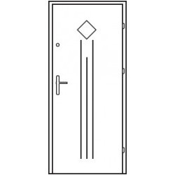 Bezpečnostné vchodové dvere Centurion Bazalt B2/C