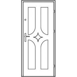 Bezpečnostné vchodové dvere Centurion Bazalt B3/C