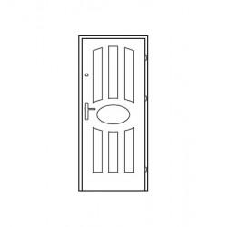 Bezpečnostné vchodové dvere Centurion Bazalt B4/C