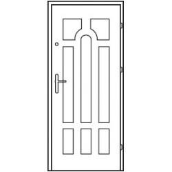 Bezpečnostné vchodové dvere Centurion Bazalt B9/C