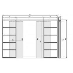 Hliníkový posuvný systém G/K VOSTER pre dvojkrídlové dvere