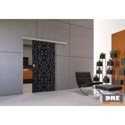 Nástenný posuvný systém DRE pre jednokrídlové sklenené dvere