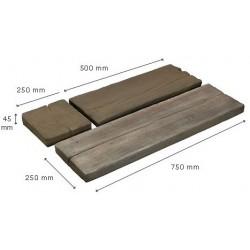 PK2 - kamenný prvok imitujúci drevo