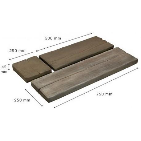 PK3 - kamenný prvok imitujúci drevo