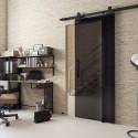 Posuvný systém VOSTER typ Loft Glass + dvere + úchyt